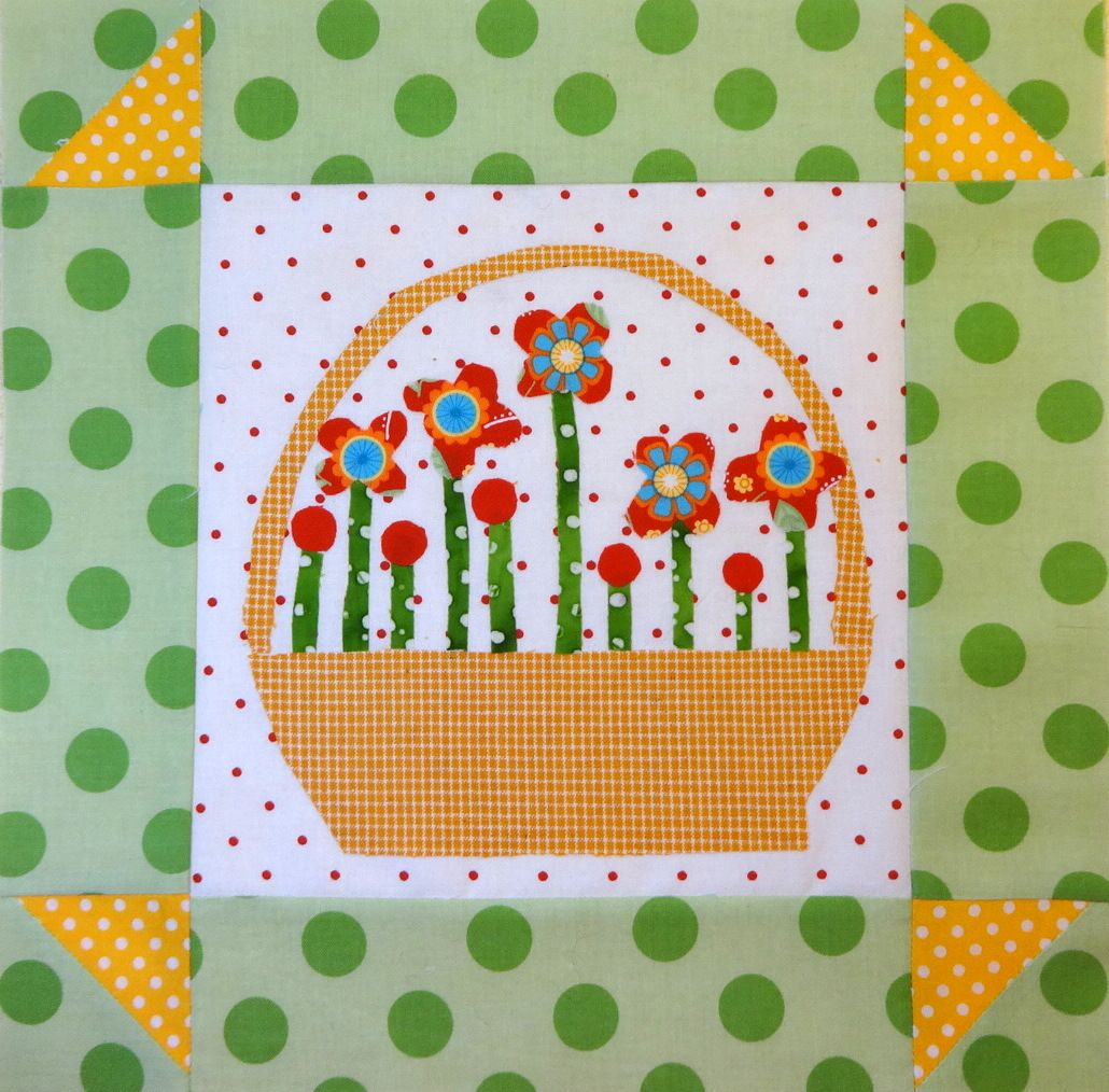 From the Gossip in the Garden quilt...a little basket block
