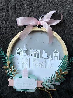 Christmas Ornament using Hometown Greetings Edgelits Stampin Up!