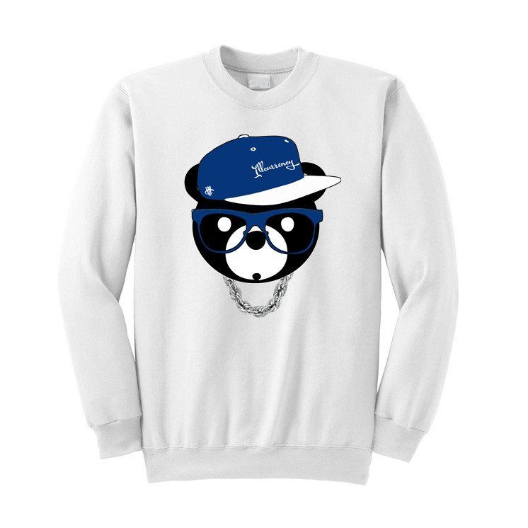 7309e1dd6d19 Jordan 12 French Blue White Sweatshirt (ill Bear) - illCurrency Matching T- shirts For Sneakers