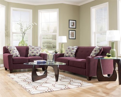 Superieur Aubergine Living Room