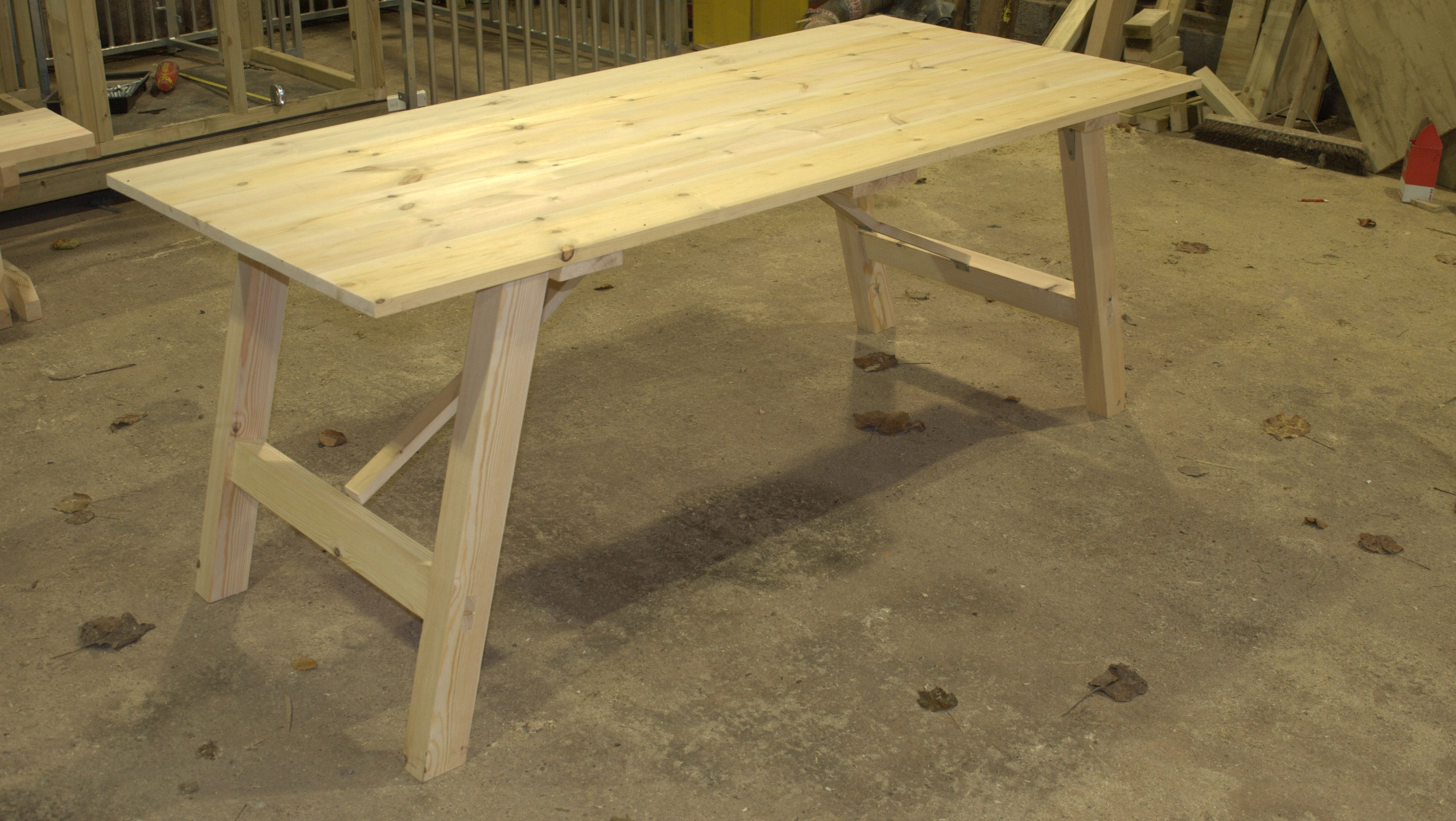 Wooden Trestle Tables Suitable For Dining Foldabe Legs Ease Of Storage Multiple Purchases S And Delivery Across The Uk