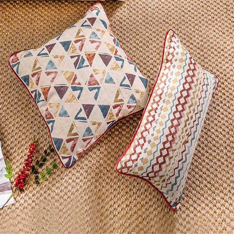 Geometric Graffiti Luxury Cushion Cover Model Room Decor Bohemia Pillows Case Home Textiles Supplies Chair Seat Car Covers