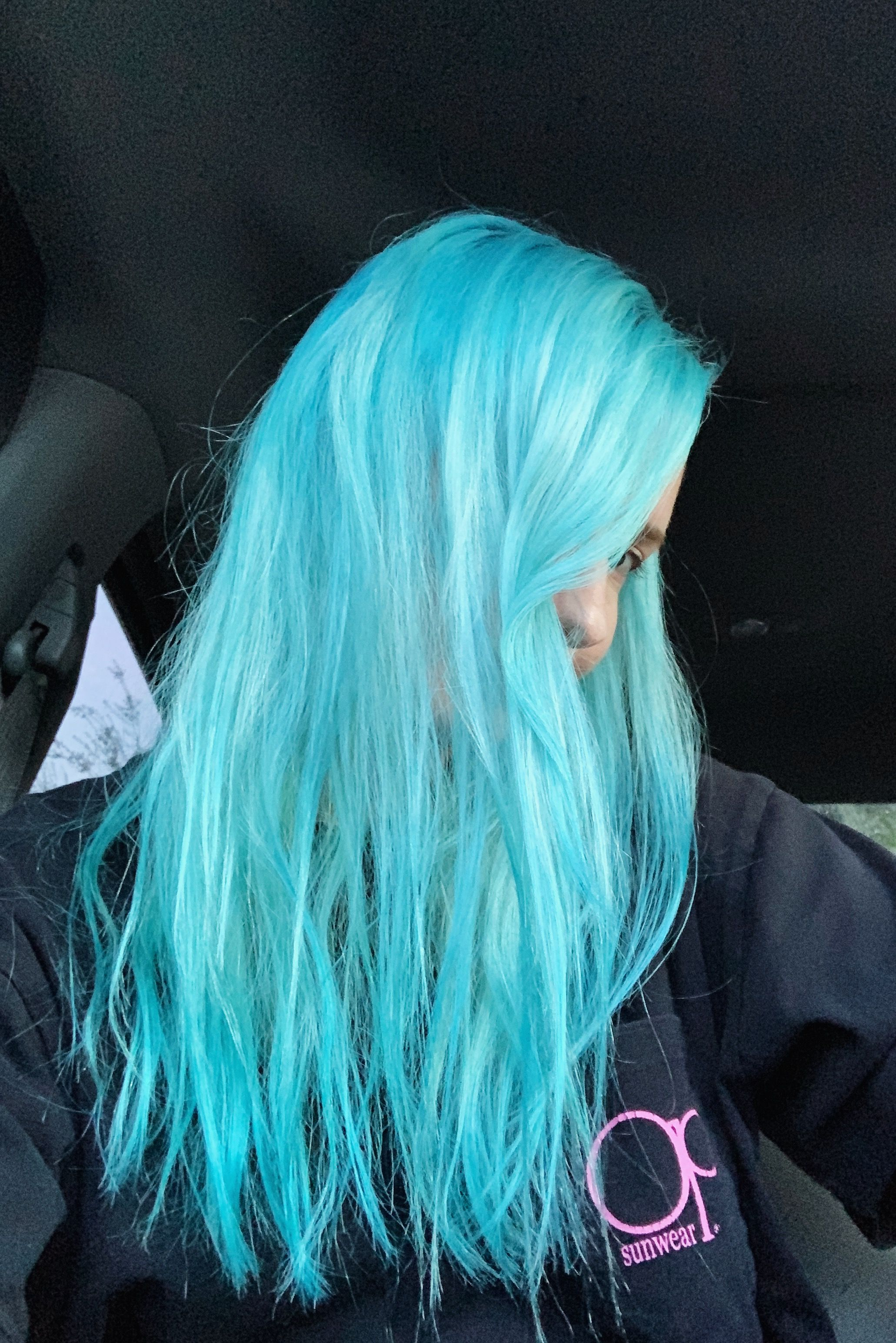 How To Fade Blue Hair Dye Quickly Without Bleach Dyed Hair Blue Faded Blue Hair Turquoise Hair