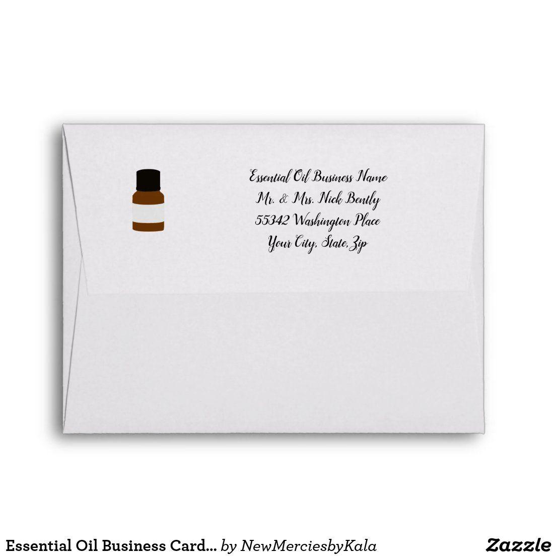 Essential Oil Business Card Envelope Personalized Zazzle Com Essential Oils Business Card Envelopes Custom Printed Envelopes