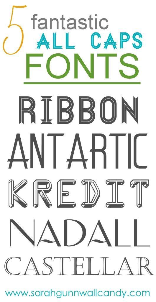 Five Fantastic All-Caps Fonts | Typography | All caps font, School