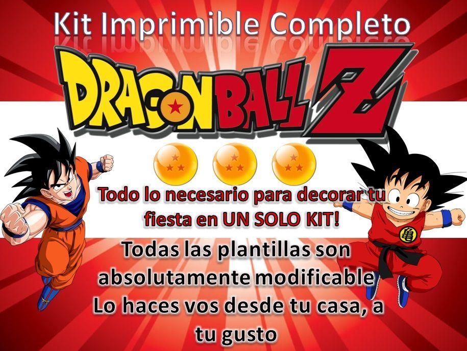 Tarjetas De Invitacion A Cumpleaños Dragon Ball Para Mandar