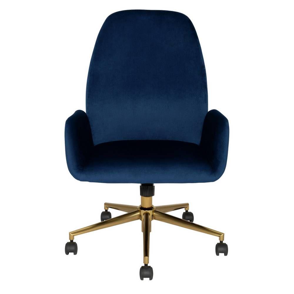 Buy Argos Home Clarice Velvet Office Chair Blue Office Chairs Argos In 2020 Velvet Office Chair Office Chair Argos Home
