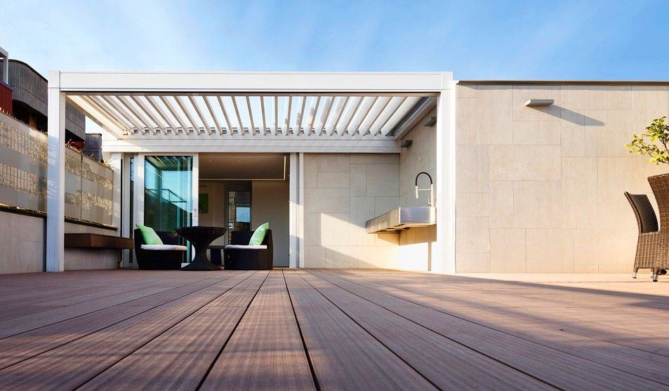 Aluminium Opening Louvered Roof Systems control external