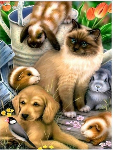 New Arrival Hot Sale Cute Dog Pattern 5d Diy Diamond Painting Kits UK VM9621
