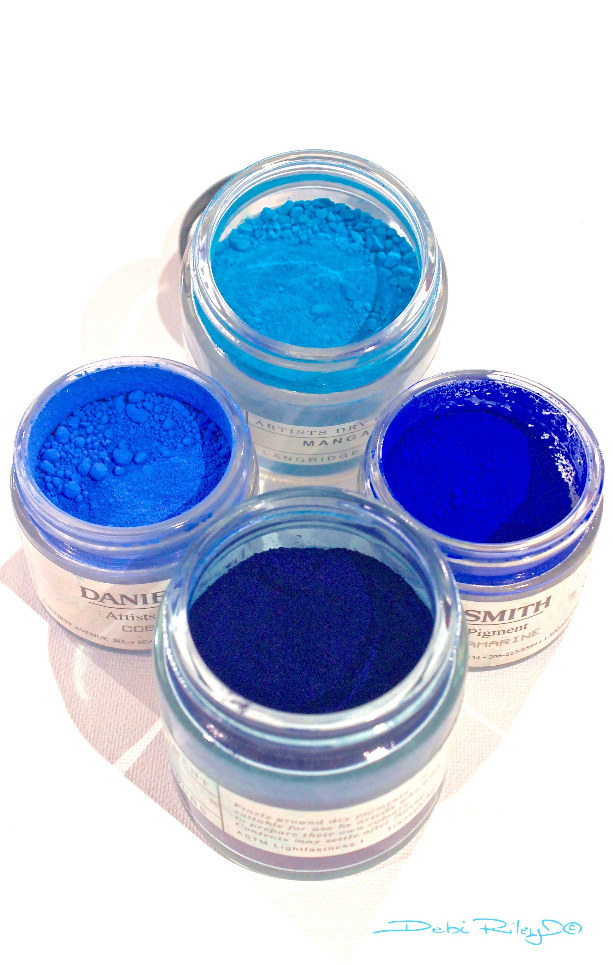 Watercolor Pigments Cobalt Blue Prussian Blue Ultramarine Blue