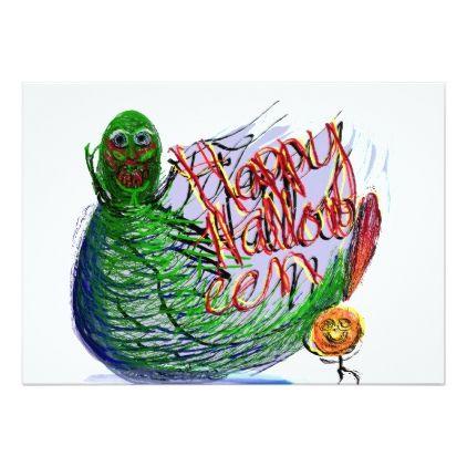 Happy Halloween! Critters Card - Halloween happyhalloween festival party holiday