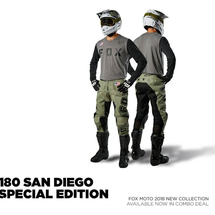 FOX 180 SAN DIEGO SPECIAL EDITION The Fox 180 San Diego Special Edition  jersey features military 5746b07eb