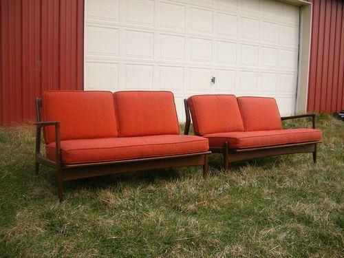 Danish Modern Selig sofa couch sette denmark eames era ...