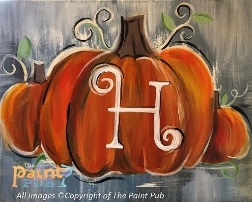 Pumpkin Painting On Canvas