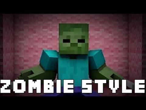 Zombie Style Minecraft Gangnam Style Parody Zombie Style Minecraft Gangnam Style