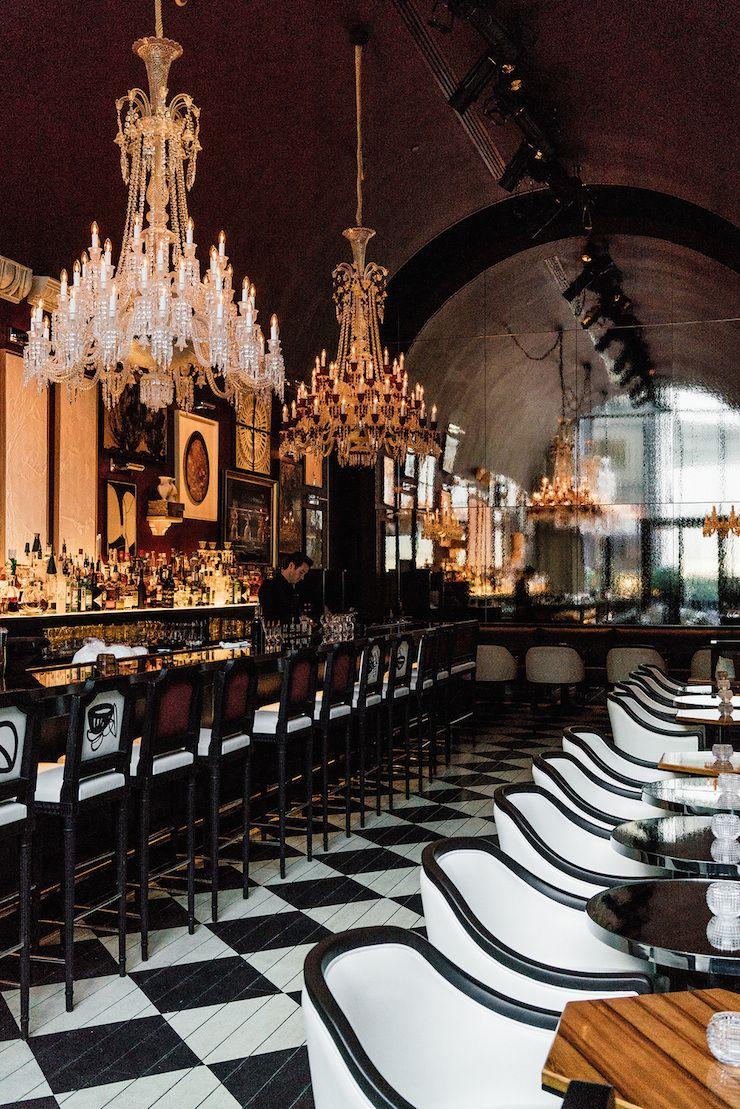dustjacketattic: Bar, Baccarat Hotel, New York   by egg canvas ...
