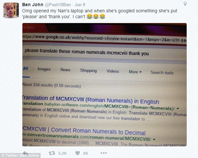 Ben John Took To Twitter To Share His Grandmothers Endearing Google Search Where She Added