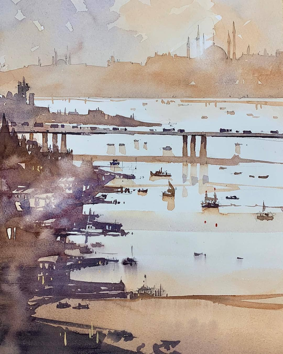 The Best Watercolor On Instagram Watercolor By Iain Stewart