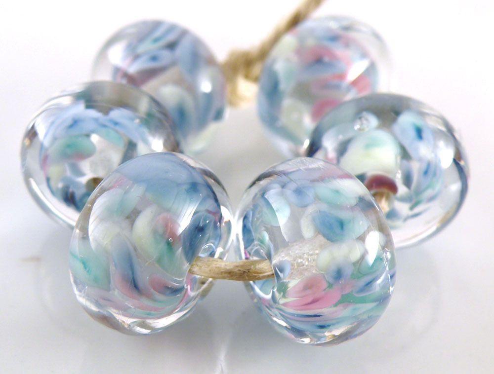 Groovy Swirl Encased Handmade Lampwork Glass Donut Round Beads 10mm Set of 6 SRA | eBay