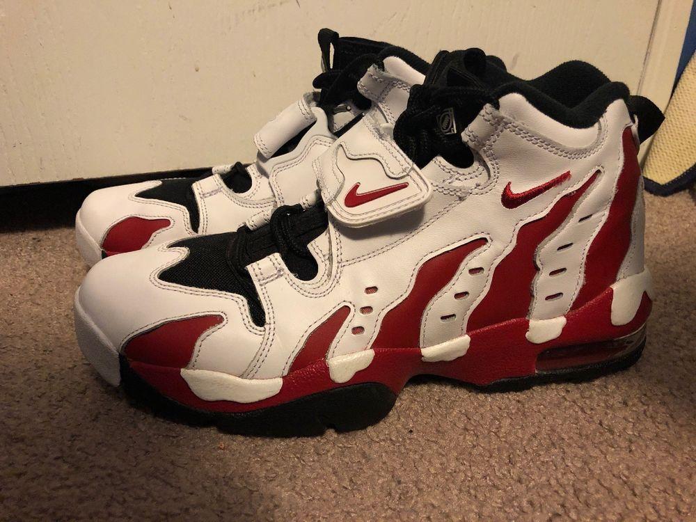 b27a03cfa0 Nike Air DT Max 96 White Varsity Red Black Deion Sanders Sz 9.5 316408-161  #fashion #clothing #shoes #accessories #mensshoes #athleticshoes #ad (ebay  link)