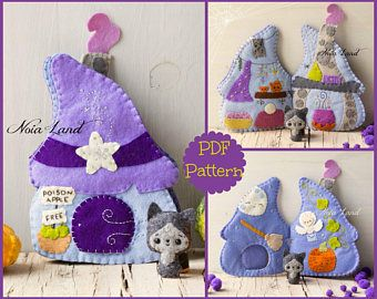 Fairy house activity book. Soft book #witchcottage