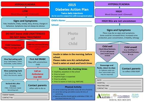 Example of school plan for diabetes management Uni Pinterest - action plan example