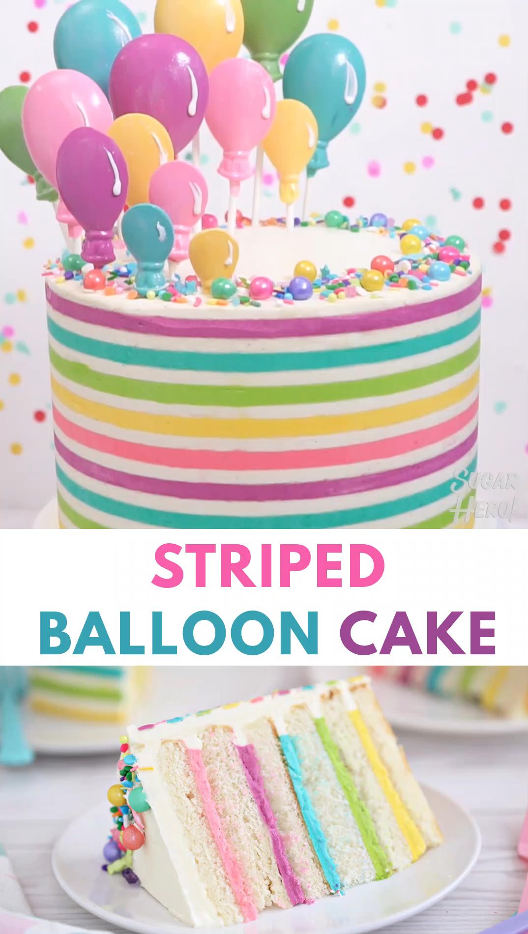 Striped Buttercream Balloon Cake Video