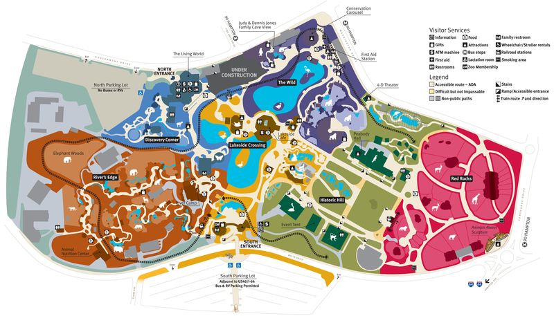 Saint Louis Zoo Map Polar Bear Point Sea Lion Sound Penguin - Us map st louis mo