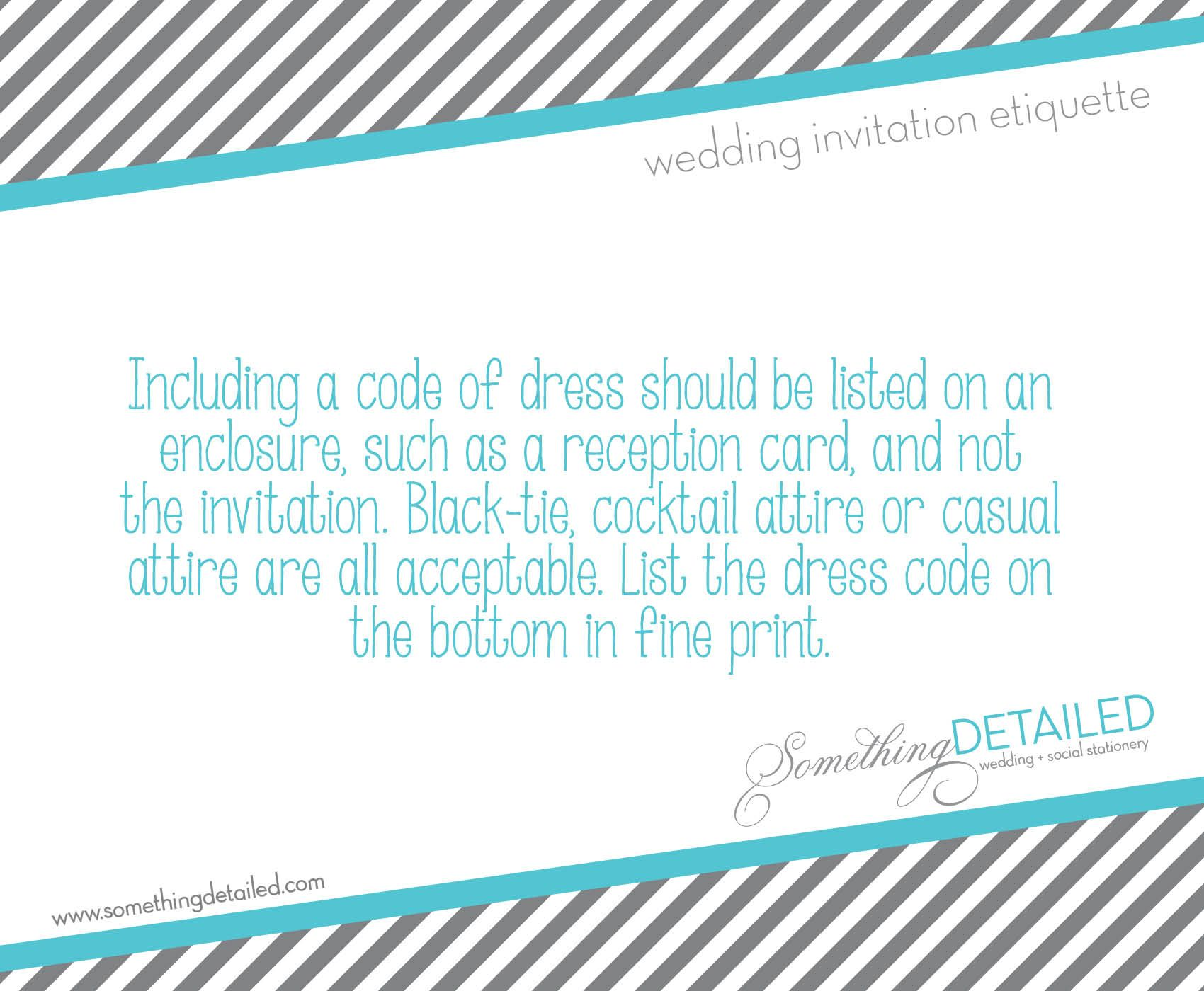 Wedding Invitation Etiquette Dress Code Dressy Casual Cocktail