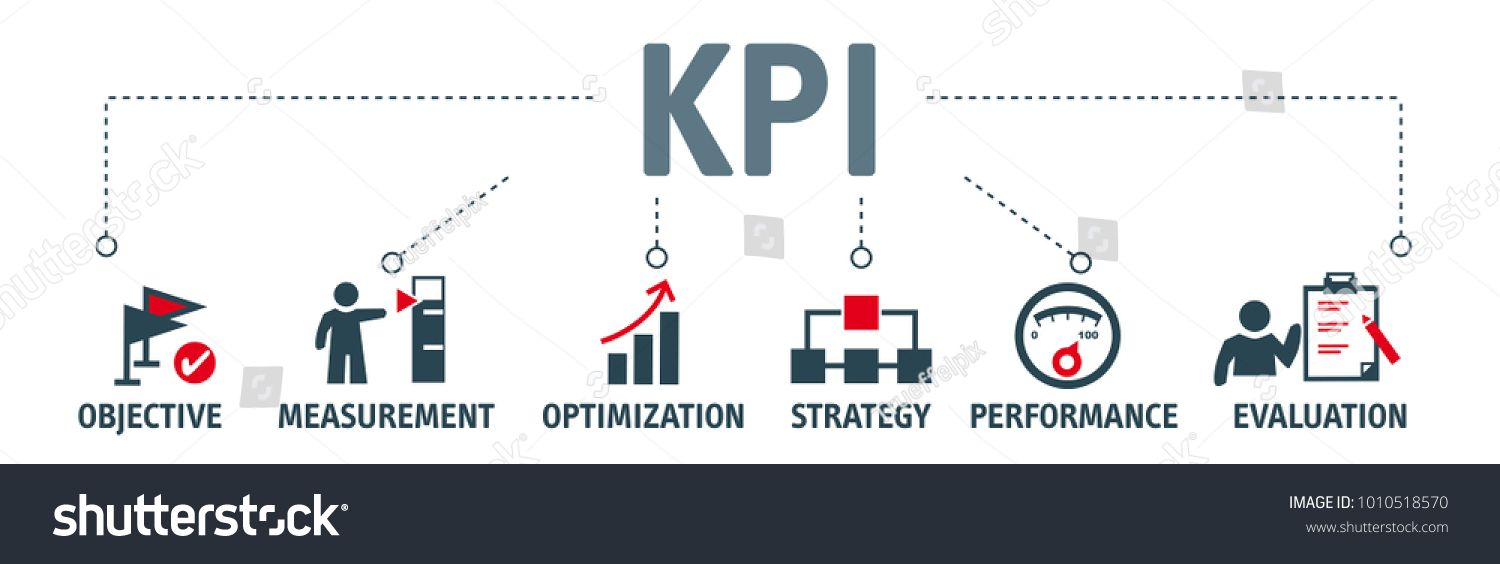 Banner KPI concept with icons. Key Performance Indicator
