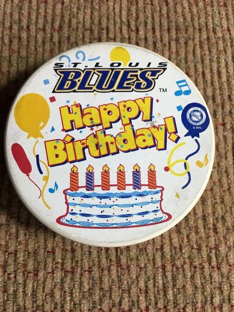 St Louis Blues Hockey Puck Happy Birthday White Puck Very Rare Affilink St Louis Blues Hockey St Louis Blues Happy Birthday