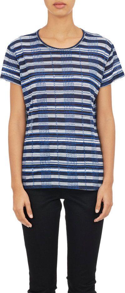 Proenza Schouler Stripe & Plaid T-shirt at Barneys.com
