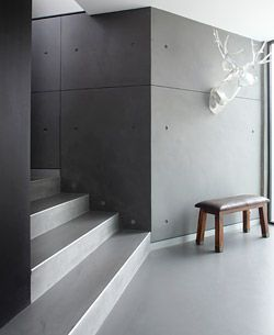Lightweight Concrete Topping Provides Seamless Walls And Flooring Concrete Decor Concrete Walls Interior Concrete Interiors Concrete Decor