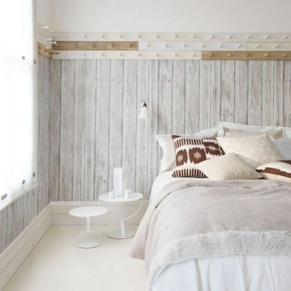 Beautiful wallpaper wood effect walldesign wall imitation for Wood wallpaper bedroom