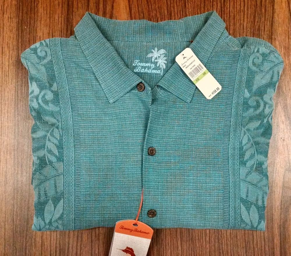 NWT Tommy Bahama Hawaiian Silk Camp Shirt Mens 5XB 5XL Big Man NEW #TommyBahama #HawaiianShirt #5XL #5XB #BigAndTall #BigMan #PlusSize #ForSale #Shopping #eBay