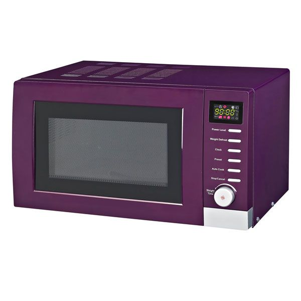 Purple And Green Kitchen Accessories: Purple Spectrum Collection Digital Microwave