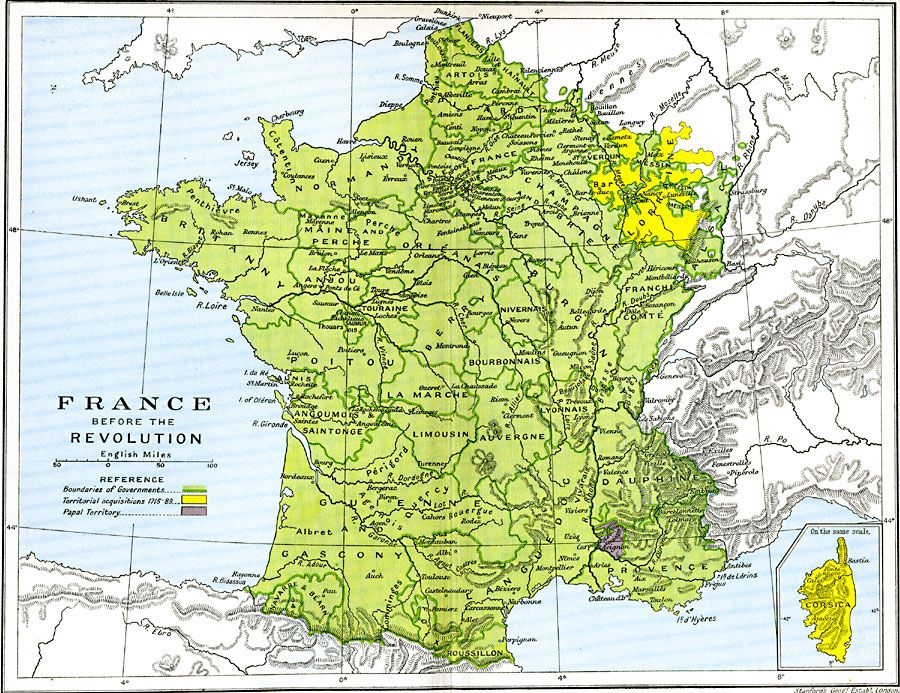 English Map Of France.Map Of 18th Century France Before The Revolution To Tame The Wind