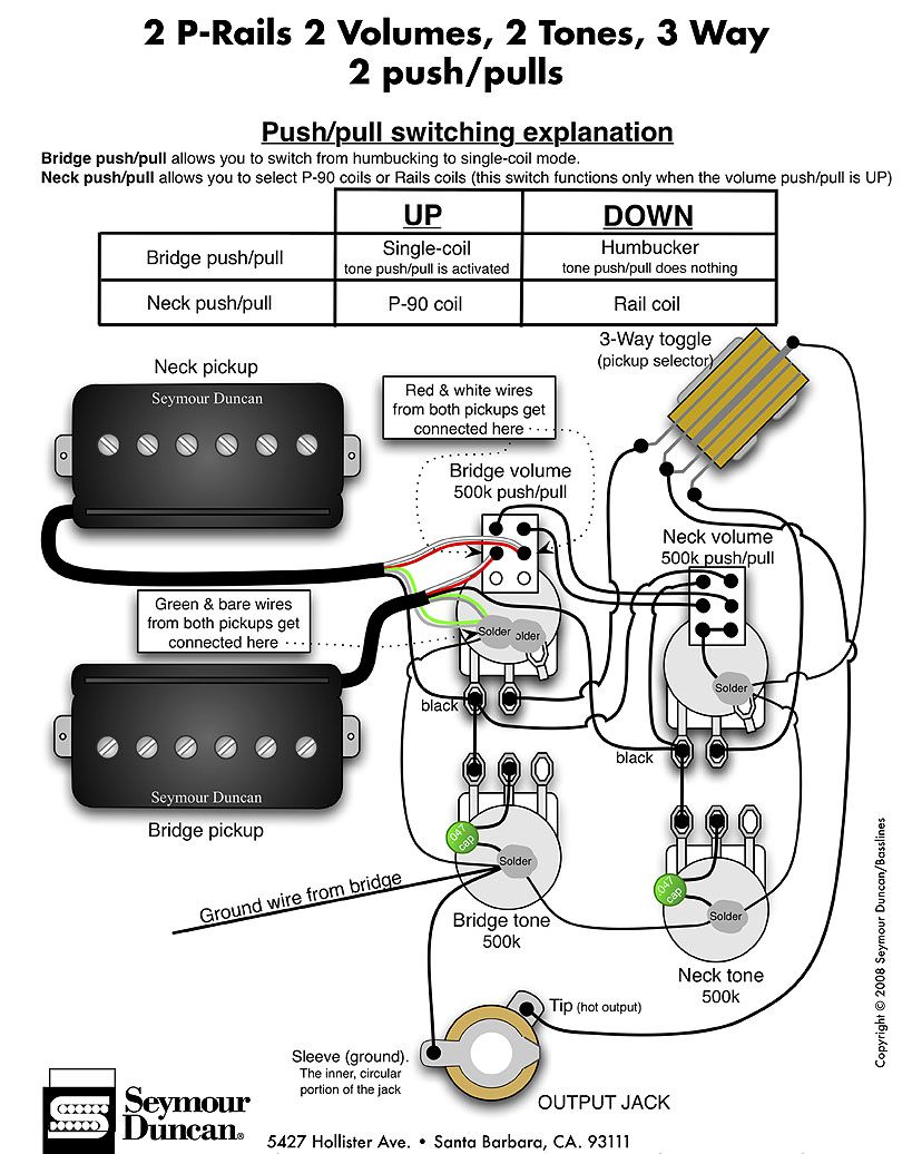 Maybe This Wiring For The Carvin Guitar Building Bass Guitar Pickups Guitar Diy