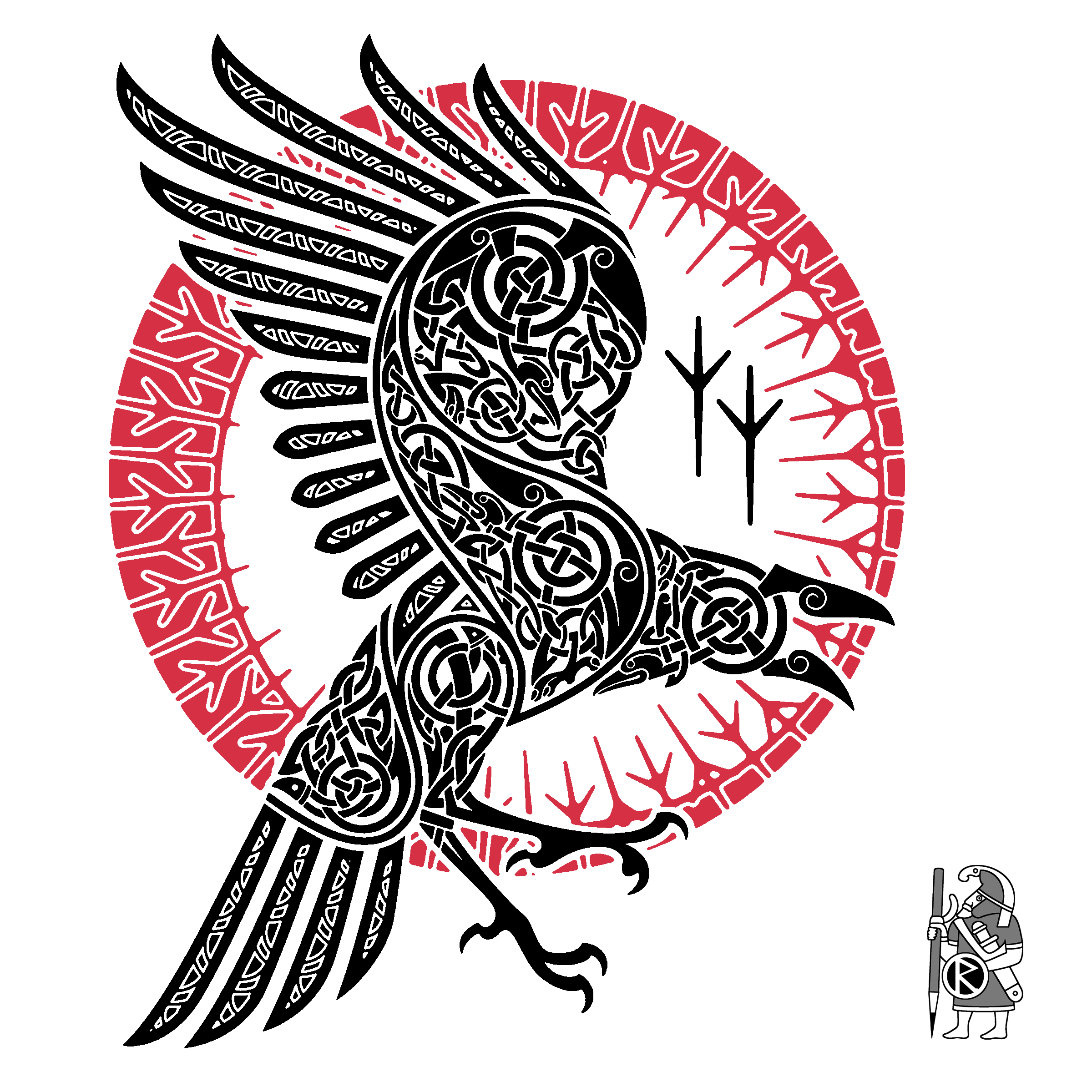 Raven Viking Tattoo: Ragnar's Raven By RAIDHO
