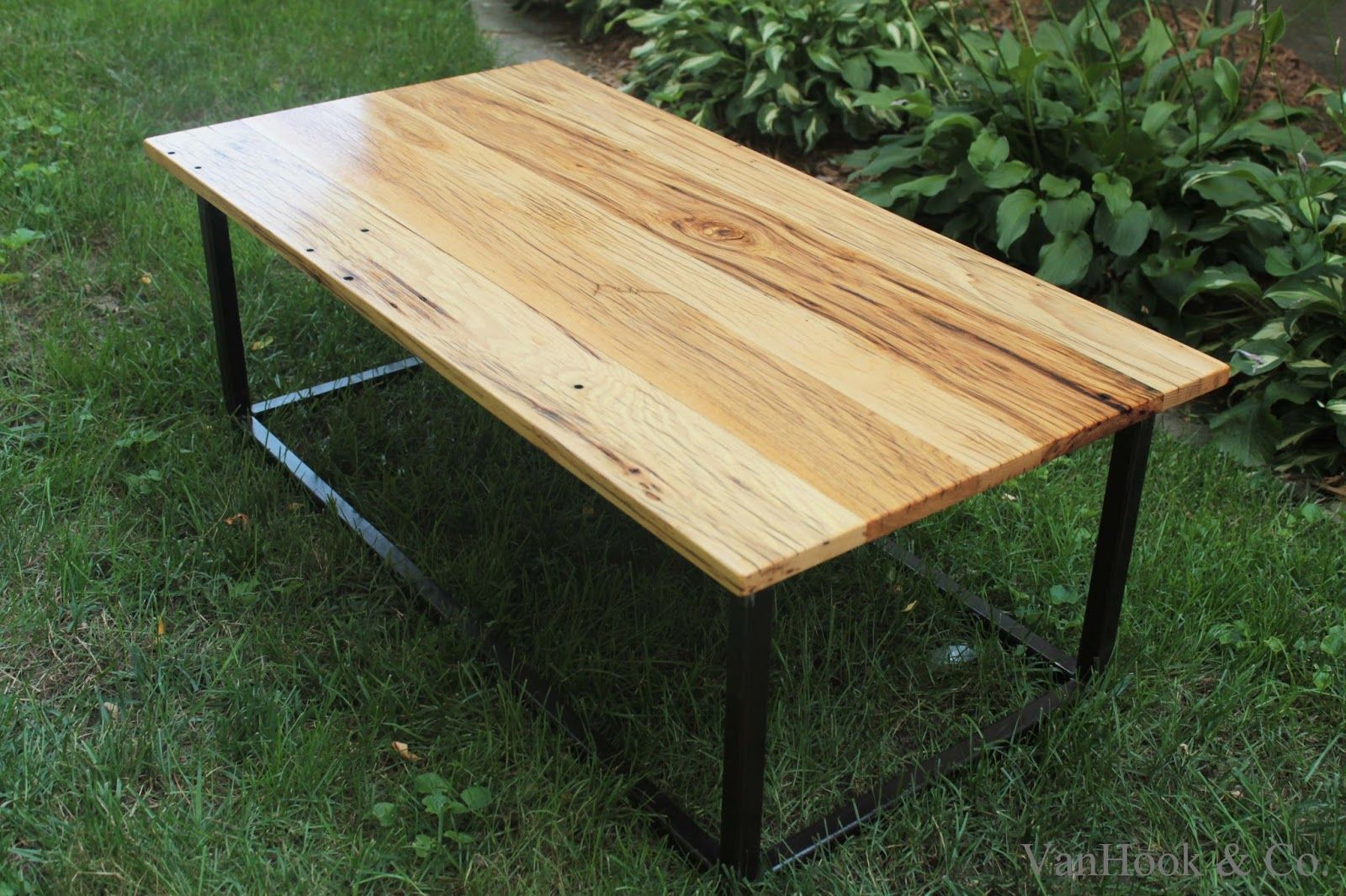 Hand Built White Oak And Steel Frame Coffee Table Coffee Table