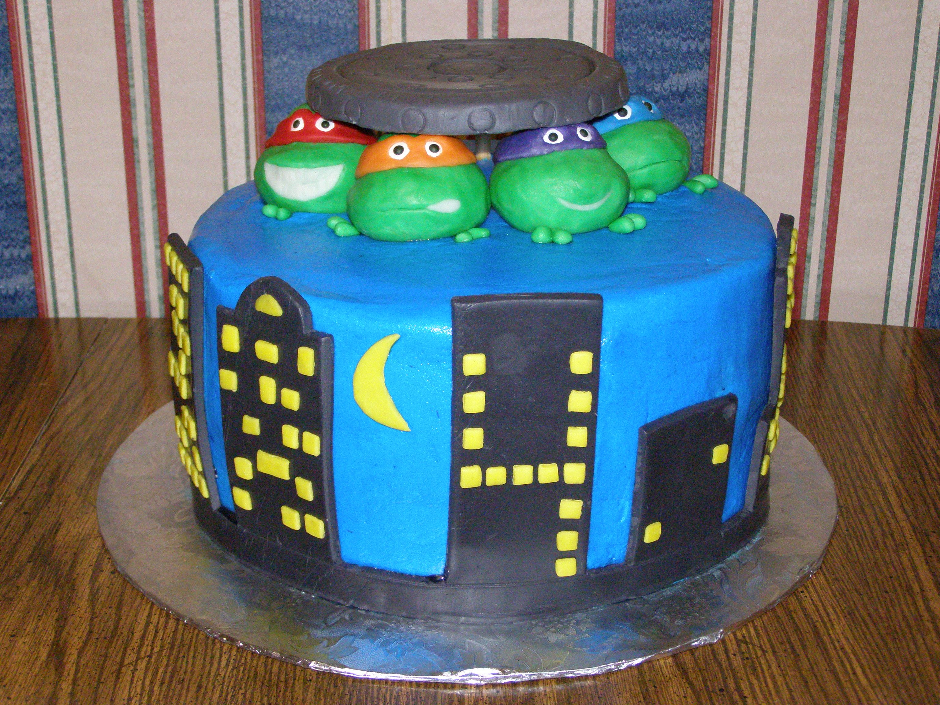 Teenage Mutant Ninja Turtle Birthday Cake Donatello Donnie
