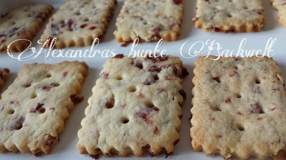 Alexandra´s persönlicher Food Blog: Cranberry Butterkekse