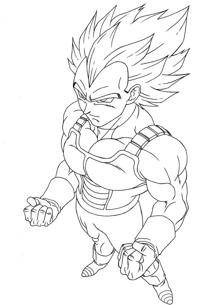 Free Vegeta Super Saiyan Coloring Pages Enjoy Coloring Dragon