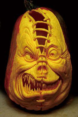 30 Realistic Pumpkin Faces For Helloween The Design Inspiration Scary Halloween Pumpkins Pumpkin Sculpting Scary Pumpkin Carving