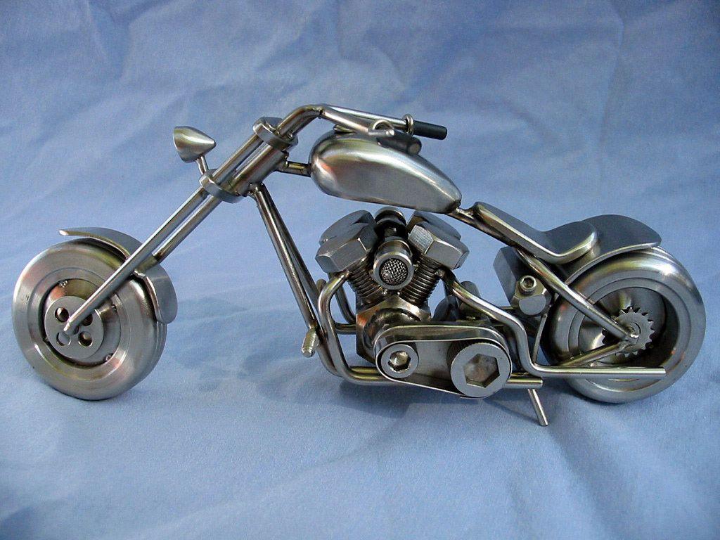 такой модели мотоциклов фото из подшипников самодельные кто-нибудь
