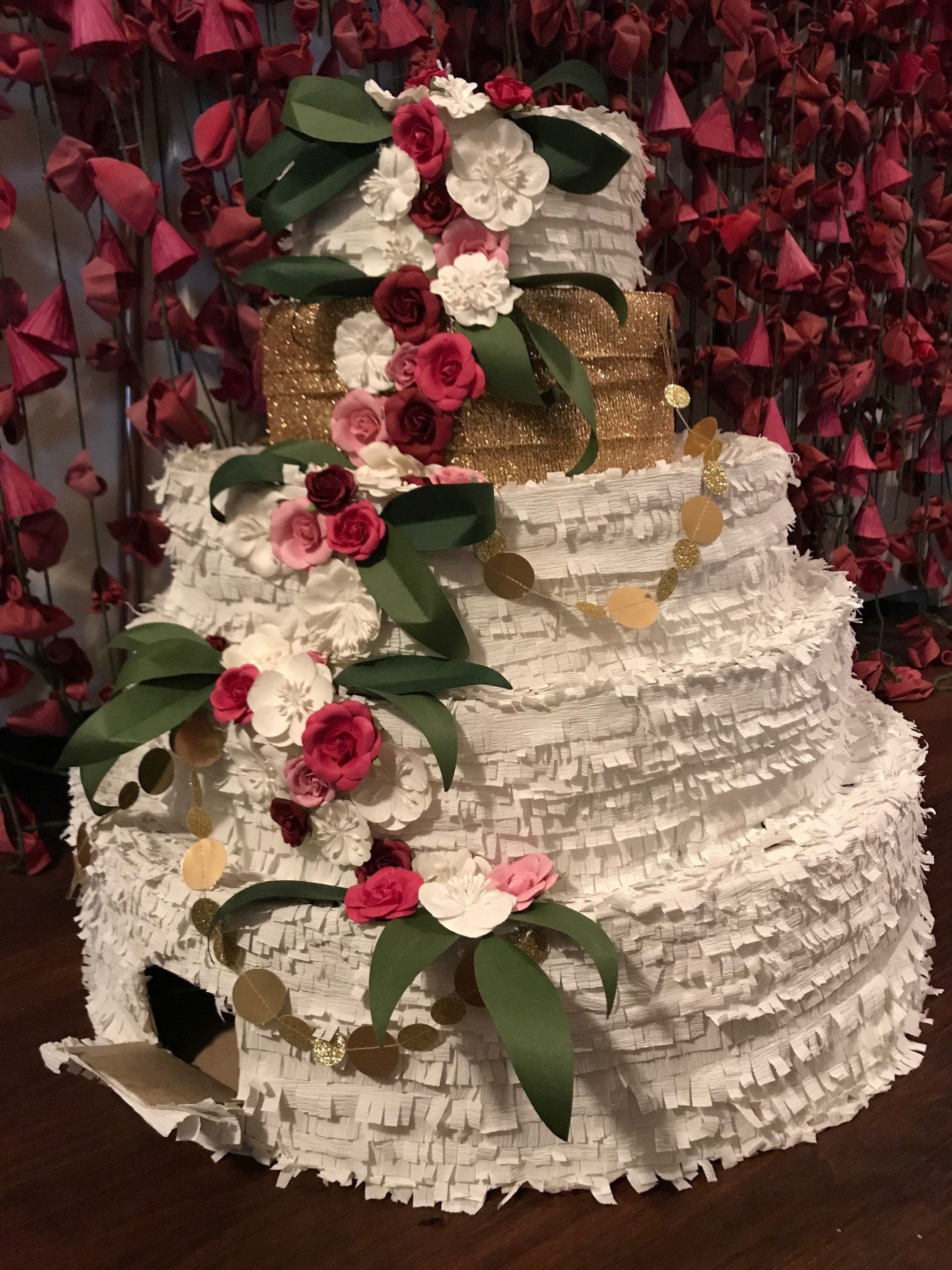 Excited To Share The Latest Addition To My Etsy Shop Wedding Cake Pinata White Wedding Pinata Cake Pinata Wedding Pinata Cool Wedding Cakes Wedding Cakes