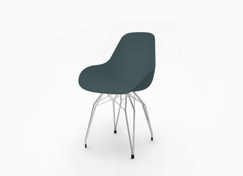 chaise scandinave pied en metal bleu diamond d - Chaise Scandinave Pied Metal