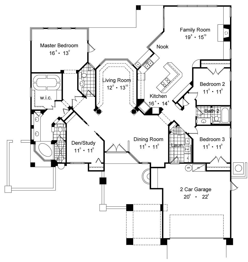 10 Features To Look For In House Plans 2000 2500 Square Feet Basement House Plans Craftsman House Plans House Plans One Story
