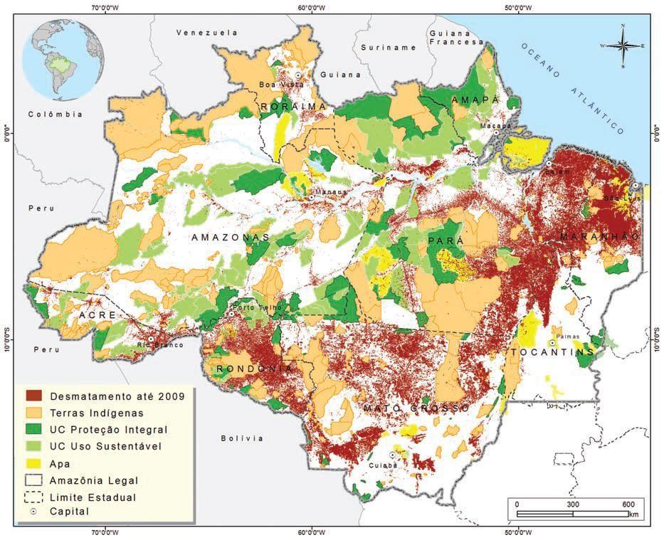 amazon rainforest deforestation map | Amazon deforestation ...