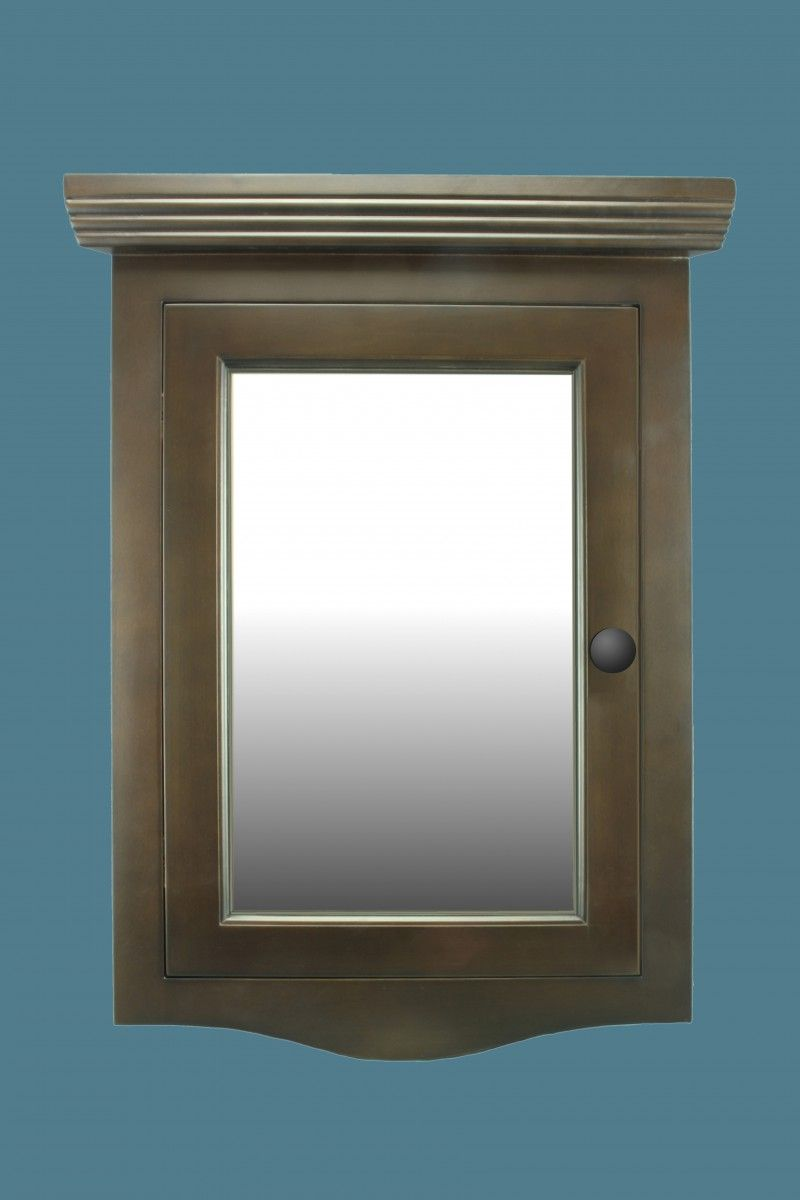 Corner Medicine Cabinet Wall Mount With Mirror Dark Oak Hardwood